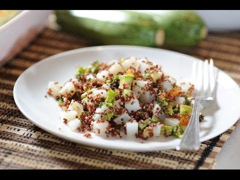 Quinoa con vegetales - Quinoa with vegetables - Como cocinar- Recetas vegetarianas