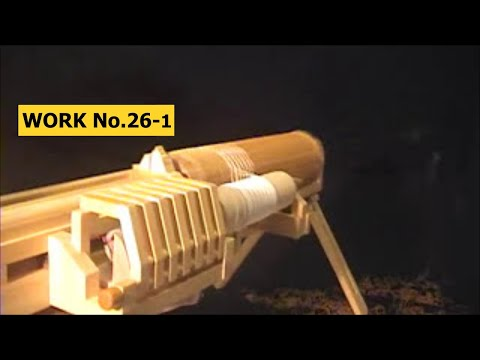 504 rounds! Motorized Rubber Band GATLING GUN/ oggcraft.jp