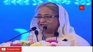 শেখ হাসিন বললেন ঢাকায় কোন বস্তি থাকবেনা। Hasina pledge  no slums in capital