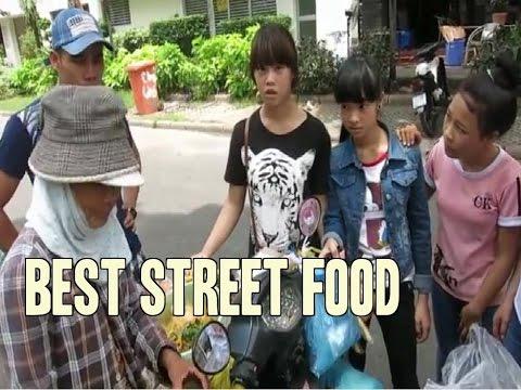 Best Street Food Vietnam Asia. bánh giò. bánh tráng trộn.
