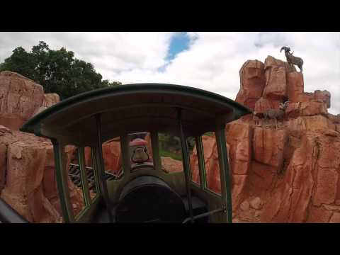 Big Thunder Mountain Railroad Full Ride Front Car GoPro Walt Disney World Magic Kingdom 4/19/14