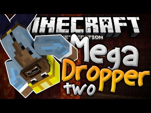 MORE SKYDIVING in MCPE!!! - Mega Dropper 2 Mini Game - Minecraft PE (Pocket Edition)
