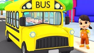 Wheels On The Bus | Bus Song | Nursery Rhymes & Baby Songs | Children Rhyme By Boom Buddies