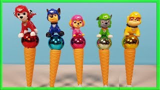 Paw Patrol Balls Ice Cream Cones , Learn Colors with Paw Patrol Wrong Heads