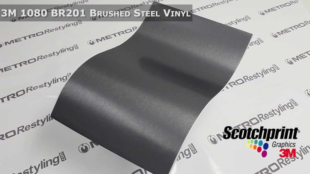 3m Scotchprint Wrap Film Series 1080 Brushed Steel Vinyl