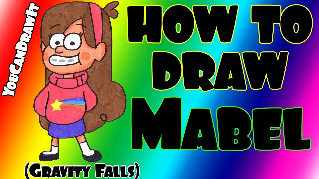 Gravity Falls Printable Coloring Pages How to Draw Mabel From Gravity