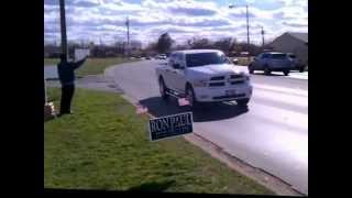 RON PAUL Meetup Group Sign Wave (Abilene, Texas - March 3, 2012)