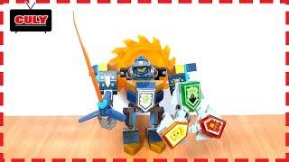 Lego Nexo hiệp sĩ và cỗ máy chiến đấu lưỡi cưa brick toy for kids đồ chơi trẻ em