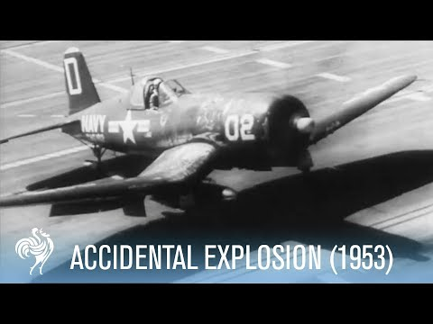 Bomb Accidentally Explodes on Aircraft Carrier, killing the Cameraman