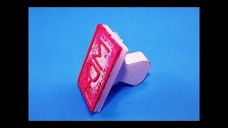 How to Make à Simple Stamp With Rubber Band - Easy Diy