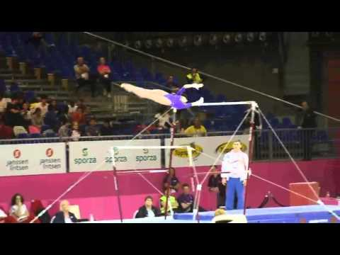 Victoria KOMOVA RUS, Bars Senior Qualification, European Gymnastics Championships 2012