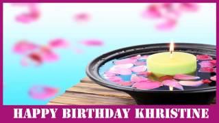 Khristine   Birthday Spa - Happy Birthday