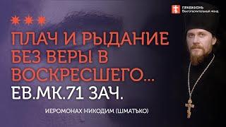 2020.06.28 Евангелие от Марка. Разрушение Богочеловеческого союза #иеромонах Никодим (Шматько)