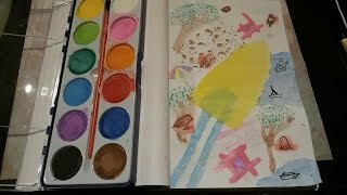 Draw a picture with watercolors