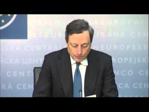 ECB's Draghi: Bank May Intervene on Bonds