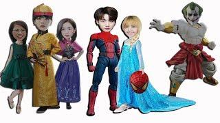 Người nhện spider man và công chúa elsa việt nam | Đoàn Vlog