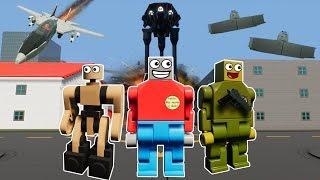 LEGO ALIEN INVASION VS LEGO CITY MOVIE! - Brick Rigs Gameplay Challenge - Lego Alien Movie
