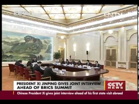 PRESIDENT XI JINPING GIVES JOINT INTERVIEW AHEAD OF BRICS SUMMIT