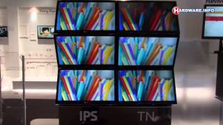 IFA 2011_ IPS versus TN LCD technology - LG Demo (raw video)
