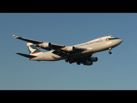 B-LIA | Cathay Pacific Cargo Boeing 747-400F Landing Amsterdam Runway 18C | 22 August 2015