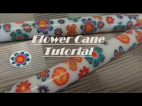[002] Millefiori Polymer clay flower cane Tutorial
