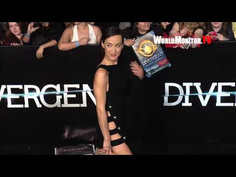 Maggie Q Sizzling Hot arriving at 'Divergent' Los Angeles Film premiere