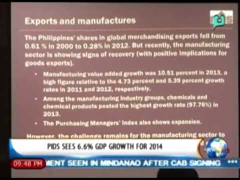 [News Life] Business on the Move: PIDS sees 6.6% GDP growth for 2014 [04|04|14]