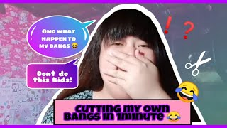 Bangs Challenge Gone Wrong! (Kalokalike ni Dora 😂)