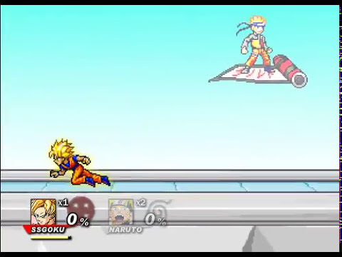 Goku vs Naruto - SSF2 v0.8