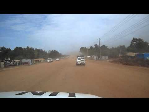 More bumpy road in Juba South Sudan UNMISS vehicle