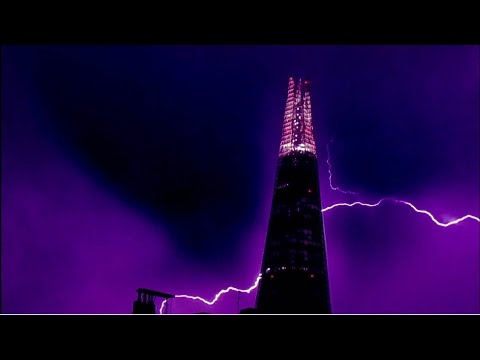 LIGHTNING and the SHARD in London 18th July