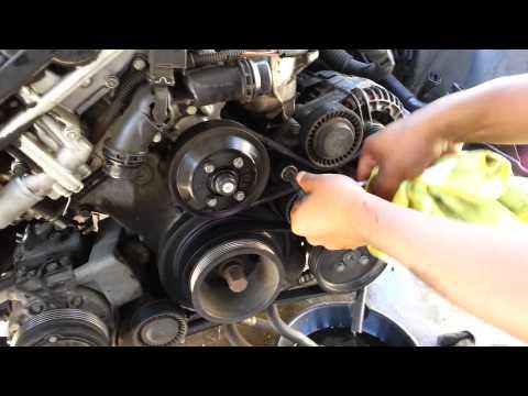Bmw 530 330 serpentine and AC belt removal e46 e39