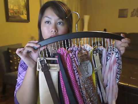 how to organize your scarves youtube. Black Bedroom Furniture Sets. Home Design Ideas