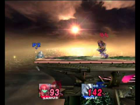 SSBB Wifi Match - Samus vs Wolf