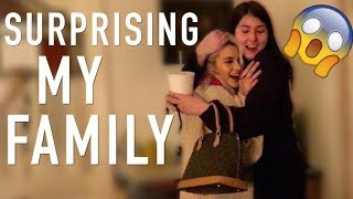SURPRISING MY FAMILY *SISTER FREAKS OUT*