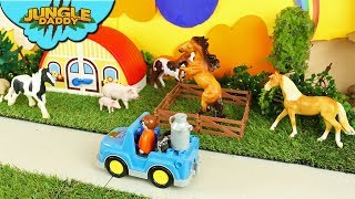 "Trip to the ANIMAL SAFARI! ""Jungle Daddy"" learn zoo animals toys for kids jungle"