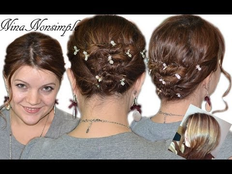 ПРОСТАЯ ПРИЧЕСКА для КОРОТКИХ волос/Easy hairstyle for short hair