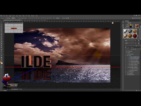 Tutorial Photoshop CS6: Texto 3D en paisaje