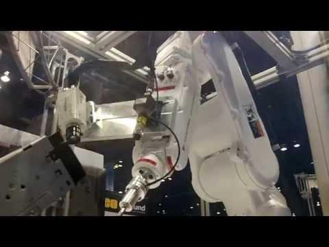 NI LabVIEW controls Yaskawa Motoman 6-axis industrial robot and performs functional testing.
