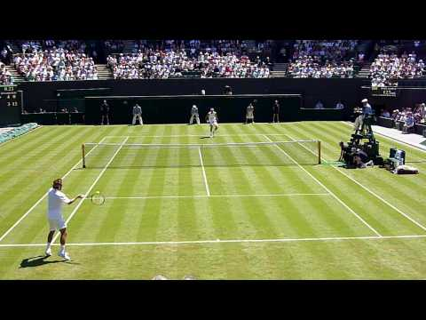 Great shot by Arnaud Clement vs. Juan Martin Del Potro Wimbledon 2009 Video