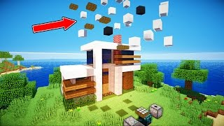 SELF BUILDING MINECRAFT REDSTONE HOUSE!