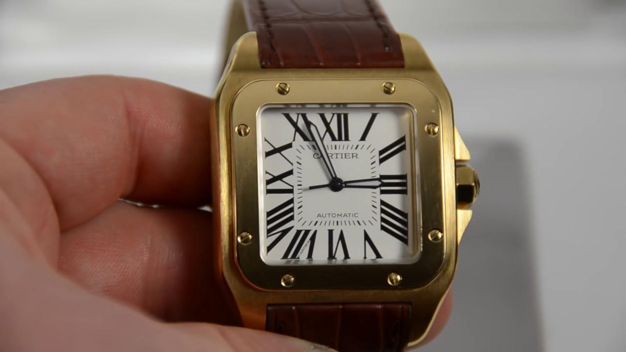 Cartier 18k Gold Watch Cartier Santos 100 18k Gold