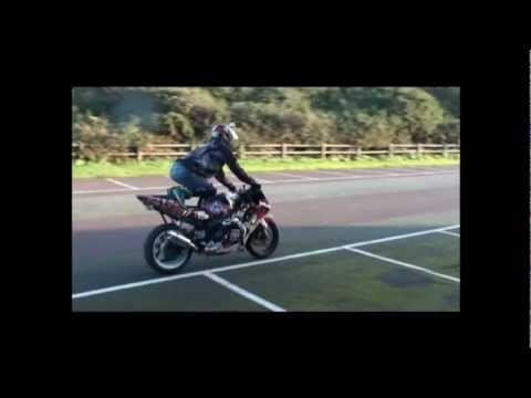 2 Bajas drag race 2 Honda CBR 600's