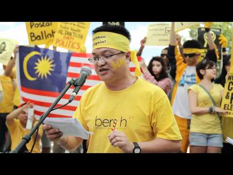 CHOGM Protest - Bersihkan Malaysia (Perth)