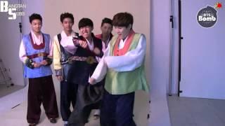 [ENG] 140201 BOMB: Hanbok dance time (shooting by Jimin)
