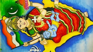 Cultural diversity/unity in diversity of India drawing and painting/Republic day painting