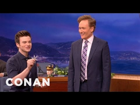 Chris Colfer & Conan Play Ninja Darts - CONAN on TBS