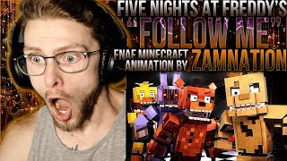"Vapor Reacts #859 | FNAF MINECRAFT ANIMATION SEQUEL ""Follow Me"" by ZAMination Productions REACTION!!"