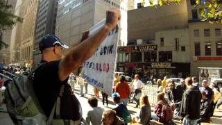 Occupy Wall Street: Disabled Vet with sign...unedited