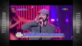 Luisana Lopilato, Felipe Colombo y Benjamin Rojas en Tu Cara Me Suena #Erreway 2015